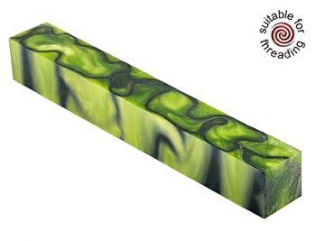 Kirinite Toxic Green pen blank